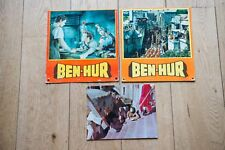 RARE - BEN-HUR - WYLER - CHARLTON HESTON : 3 PHOTOS  D'EXPLOITATION  carton LUXE