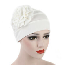 Fashion Cotton Flower Hat Cancer Chemo Beanie Baggy Cap Turban Hijab 5 Colors
