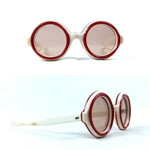 50s Candy Sunglasses Vintage France Paris Made 1950s Rare Round Red Party Frame