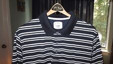 Pga Tour, Fitted Short Sleeve, Black with Grey-White Stripes (Men's Xl)- Mint