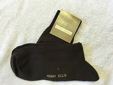 Mens Socks Perry Ellis New Sock Size 10-13 Dress Black