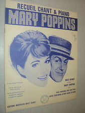 JULIE ANDREWS WALT DISNEY MARY POPPINS PARTITION BELGE