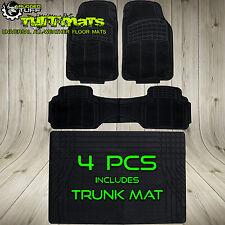 Auto FLOOR MATS TRUNK COVER Front Rear COMBO Black Rubber Custom Heavy Duty Rug