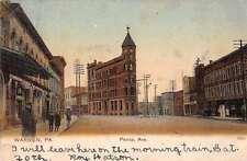 Warren Pennsylvania Penna Avenue Street Scene Antique Postcard J58112