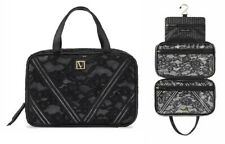 Vera Bradley Camellia Hatbox Cosmetic Case Makeup Bag Travel Purse Black Floral