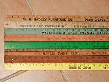 New listing Lot of 8 Vintage Advertising Yardsticks ~Bradenton- Manatee-Sarasota-Florida-