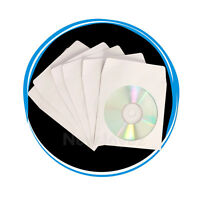 1000 Heavy Weight 100g CD DVD Paper Sleeve Envelope Clear Window Flap Wholesale