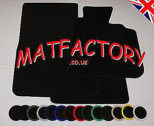 Ford FOCUS 2011 onwards black tailored car mats F145 COLOURED BINDING