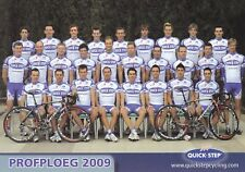 CYCLISME carte  équipe cycliste QUICK-STEP 2009