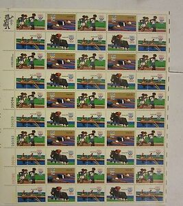 US postage stamp lot # 1791-94 MOSCOW SUMMER OLYMPICS MNH FULL SHEET CV 22.75