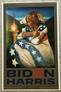 SIGNED By STANLEY MOUSE 'BIDEN/HARRIS~PEACE IN 2020' DIGITAL ART PRINT 11 x 17