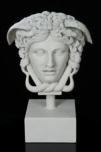 Marble Medusa the Gorgon Sculpture. Greek Mythology, Art, Gift Ornament.