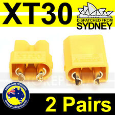 2 Pairs XT30 Nylon RC Male Female Bullet Connector Plug for Lipo Battery XT-30