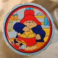 1992 Vtg Paddington Bear Empty Cookie Tin Jar