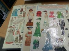 "1981 Reproduction Old Fashion ""LETTIE LANE"" Embossed Cut-Out & Costume Sheet + 2"