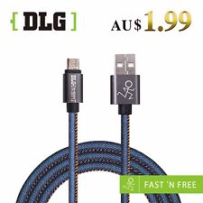 DLG NEW Cowboy Braided MicroUSB FOR  Android  device  Charging & Data Sync Cable