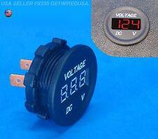 New listing Flush Mount Meter Voltage Gauge 12-Volt Dc Digital Display Panel Voltmeter