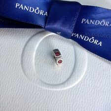 Authentic Pandora Silver Red Ruby Northern Lights Trinity Spacer Charm #790368CZ