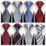 Classic Silk Men's Tie Red Black Blue Green Gray Plaid Stripe New Necktie HOT*