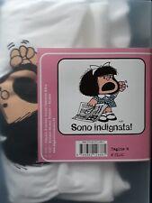 """QUINO - T-SHIRT LE MAGLIETTE DI MAFALDA """"SONO INDIGNATA"""", M, ITALY. NUOVA"""