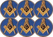 Masonic Car Auto Emblem - Six Pack (Light Blue MAE-1-6)