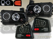 2006-2008 DODGE CHARGER TWO HALO LED PROJECTOR HEADLIGHTS + LED TAIL LIGHTS