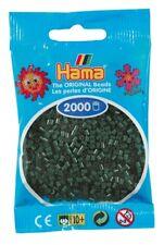 2 000 Beads Mini (Small Beads Ø2 , 5 MM) Dark Green - Hama