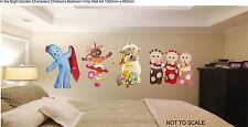 IN THE NIGHT GARDEN CHARACTERS 35cm TALL childrens bedroom wall art stickers.