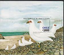 RE) 2001 CHILE, CHILEAN ANTARCTICA, DOVE, SEA FAUNA, ANIMALS, S/S, MNH
