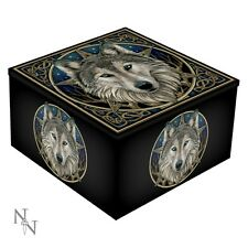 WILD ONE WOLF LISA PARKER FANTASY MIRRORED JEWELLERY TRINKET BOX NEW AND BOXED