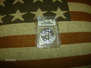 2016 (P) ICG ms70 Silver Eagle(Minted at Phili) (Coin Pictured is Coin Received)
