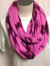 BCBGeneration Tie Dye Infinity Loop Knit Scarf Pink Passion New w/ Tags