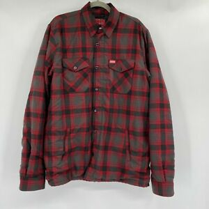 Dixxon The Forge Flannel Snap Zip Front Plaid Long Sleeve Jacket Multi Men LT