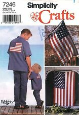 Simplicity # 7246 Sewing Pattern: American Flag Applique' Factory Folded Uncut