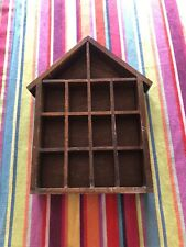 Small Wooden House Display Unit