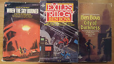 Ben Bova – Lot of 3 – Sky Burned, City Darkness, Exiles Trilogy
