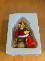 Grolier Sesame Street Big Bird Santa Claus 1992 Jim Henson Muppets Ornament *