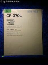 Sony Bedienungsanleitung CF 370L Radio Cassette Corder  (#0571)