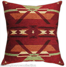 """Pillows - """"Old Santa Fe"""" Tapestry Throw Pillow - 20"""" X 20"""" Square - Lodge Decor"""