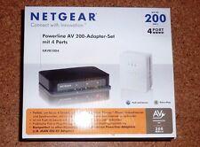 Netgear ~ Powerline AV 200-Adapter-Set ~ mit 4 Ports ~ NEU/OV