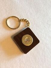 Holland & Holland Shotgun Shell Cartridge Cap Solid Walnut Keyring Stunning Wood