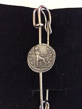 "Denarius Of Tiberius Coin WC60 Scarf Brooch and Kilt Pin Pewter 3"" 7.5 cm"