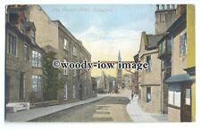 tq0297 - Lincs - The Church, and George Hotel, in Stamford - postcard