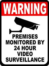 SECURITY SURVEILLANCE SIGNS Sign  Video Warning * Burglar * Robber * Thief