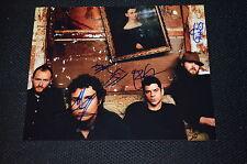 Dredg signed autógrafo 20x25 cm en persona banda completa
