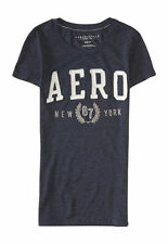 NEW Aeropostale Women's Dark Blue Aero Logo Embellished T-Shirt