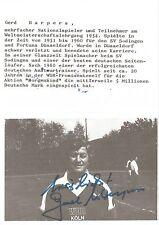 Autogramm Gerd Harpers Fußball 1954 WM Lehrgang Fortuna Düsseldorf  2016+ WDRsw