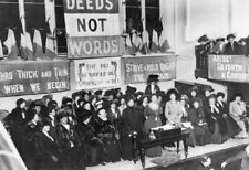 Suffragette Meeting Caxton Hall Manchester England 1908 7x5 Inch Reprint Photo