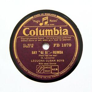 """LECUONA CUBAN BOYS """"Patica Y Mondonguito"""" (E+) COLUMBIA FB-1879 [78 RPM]"""