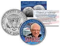 BERNIE SANDERS FOR PRESIDENT 2016 Campaign Colorized JFK Half Dollar U.S. Coin